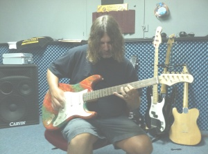 Bill Watson Playing Psychedelic Strat