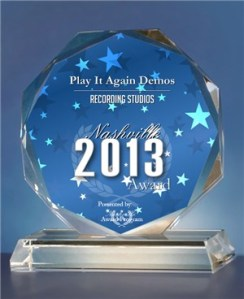 Play It Again Demos Nashville Recording Studio Business Award