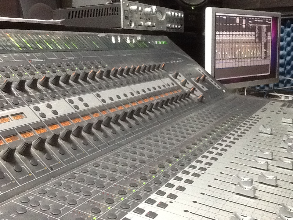 Nashville Trax Mixing Board Shot