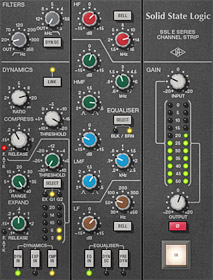SSL 4000 E Series Channel Strip plug-in