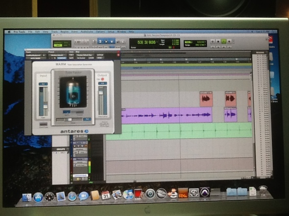 Vocal Tube Saturation In use on a Play It Again demo... well, demo!