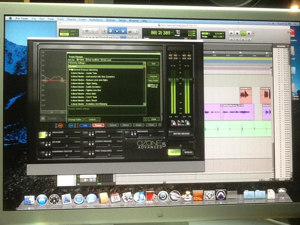 iZotope Ozone 5 Advanced Mastering Plug-In System  mastering under