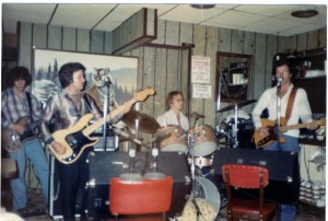 One of the first Crows Run Band gigs. left to right: Bill Watson (guitar/vocals) Joe Patrick (bass) Bob Jay (drums) John Roebuck (guitar/vocals)