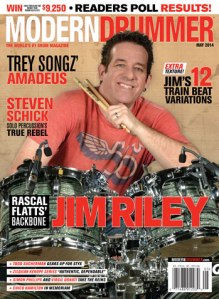 Rascal Flatts Drummer Jim Riley on the cover of Modern Drummer.