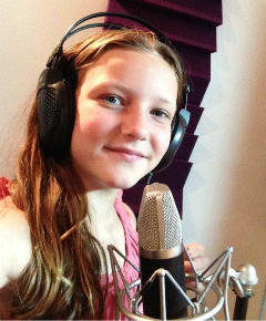 10 year old female session singer, Samantha.