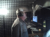 Singer Songwriter Dan Thompson of Canada sings his vocal on music tracks produced at Nashville Trax Recording Studios.