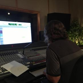 Nashville Trax and Play It Again Demos producer, Bioll Watson. engineering Jenee Fleenor's fiddle tracks on 4 songs yesterday 8-31-16