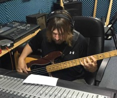 Band leader, Bill Watson, and his '78 Fender Precision Bass Guitar