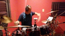 Jim Riley Playing the studio drum track to The Swansons song, Getting Ready 5-16-17